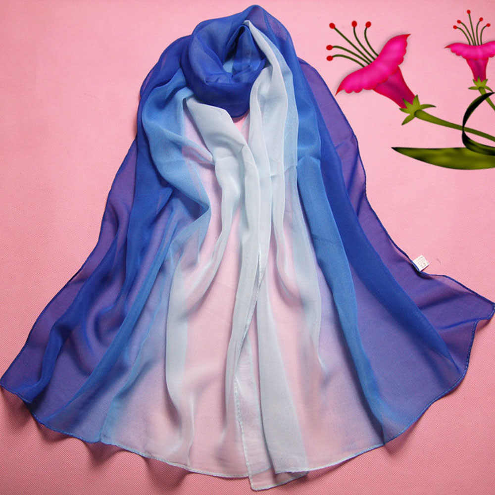 # Vestido 2019 Sexy Lady colorido abrigo largo mujeres chal de raso pañuelo marca de lujo chales y bufandas verano señoras tops17