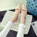 Бесплатная доставка женщин OL обувь указал тонкие каблуки насосы