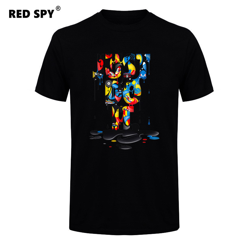 RED SPY 2017 New Fashion Just Do It T shirt Brand Clothing H