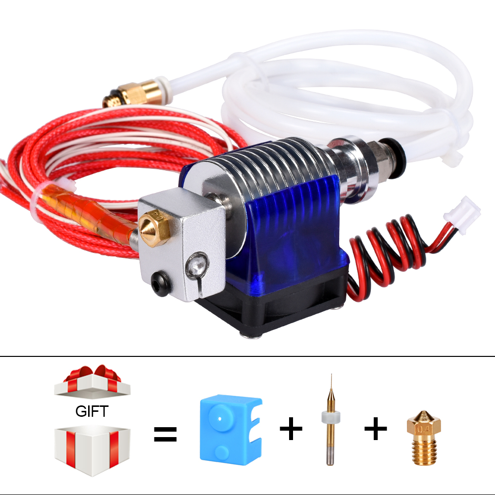 3D Printer Parts V6 J-head Hotend With Single Cooling Fan For 1.75mm/3.0mm Filament Bowden Wade Extruder 0.2/0.3/0.4mm Nozzle