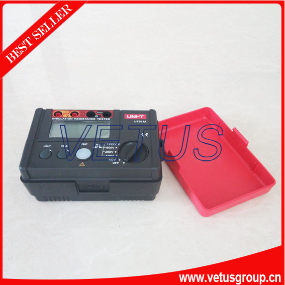 UNI-T UT501A megger insulation resistance tester digital megohmmeter with Test Voltage range 250V/500V/1000V  as907a digital insulation tester megger with voltage range 500v 1000v 2500v