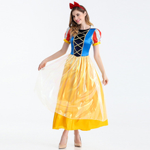 New Fashion Snow White Fancy Dress for Adult font b Women b font Halloween Carnival Short