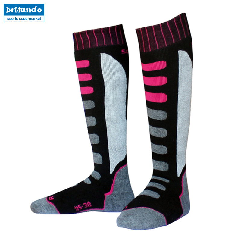 2pair/lot high quality professional men skiing socks thermal snow sports ski socks cotton warm breathable outdoor children socks