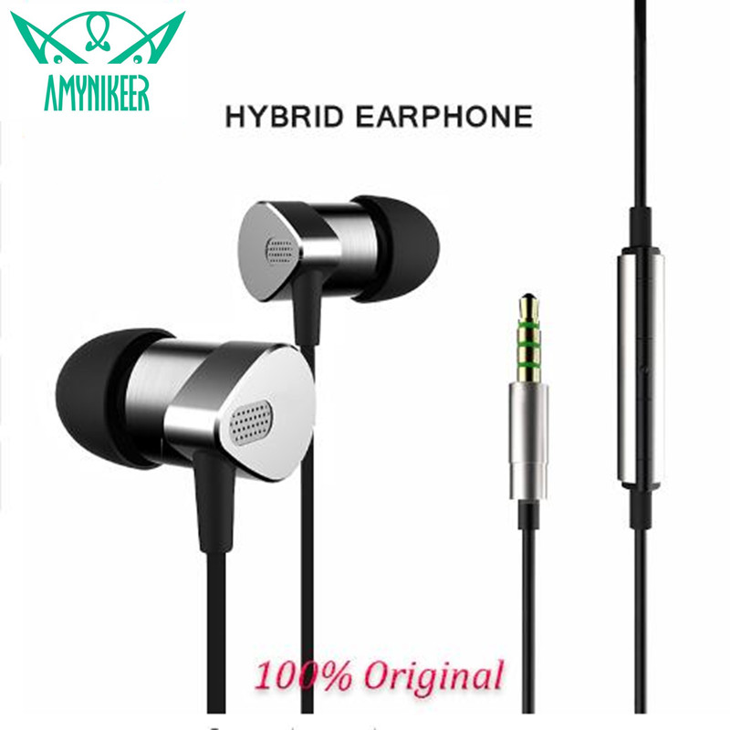 E MI CI880 hybrid earphone with mic metal manufacturing shocking sound quality HIFI copper wires Headset