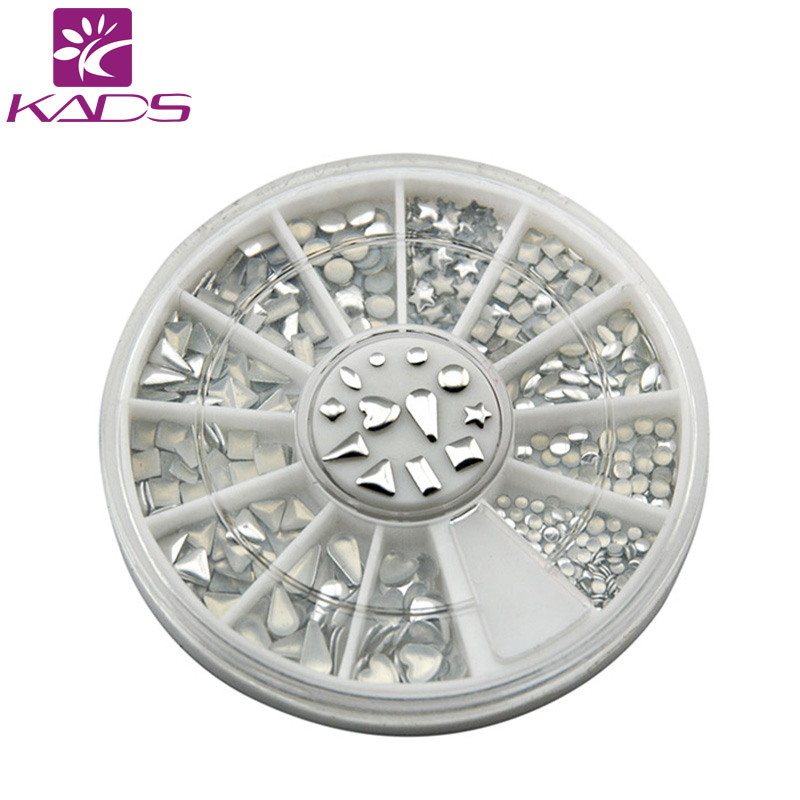 KADS nail metallic Flakes nail art decorations 3d nails accessories design bling metal shell flake metallic mixed Silver gold