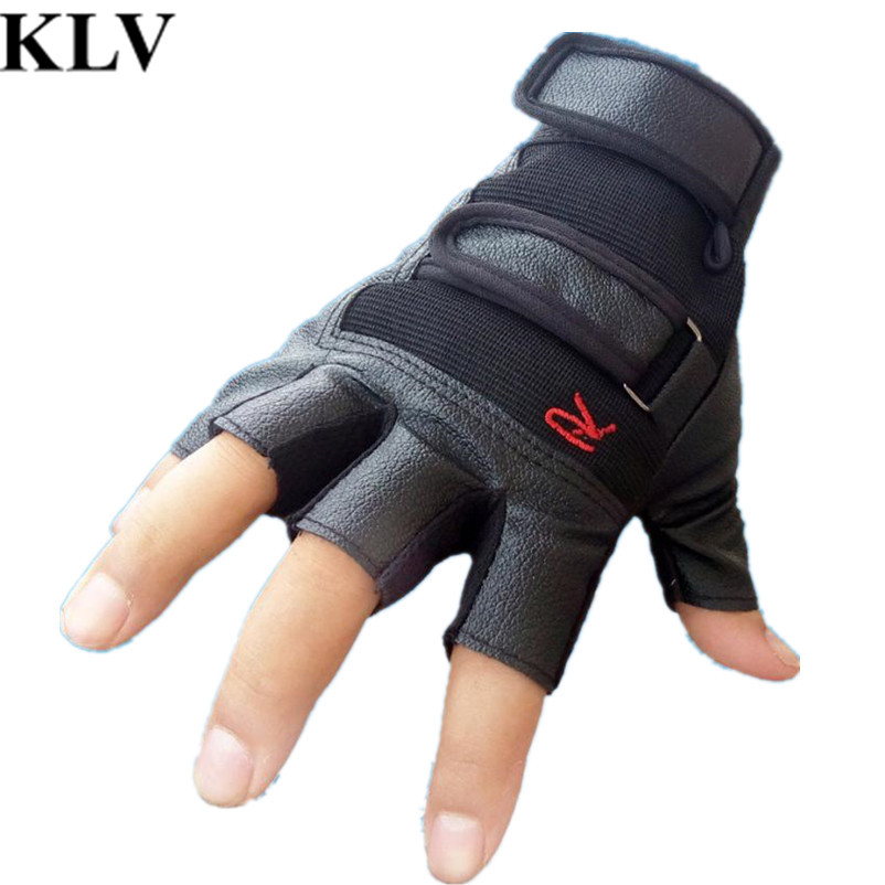 2017 hot Newly Gym Gloves Fingerless Men Women Gloves for Fitness Work Out Palm Wrist Protection Mittens Half Finger Sports
