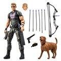 """7 """"Select Marvel Avengers Hawkeye Vingadores Herói DC008038 Idade De Ultron Figura de Ação Brinquedo de Presente"""