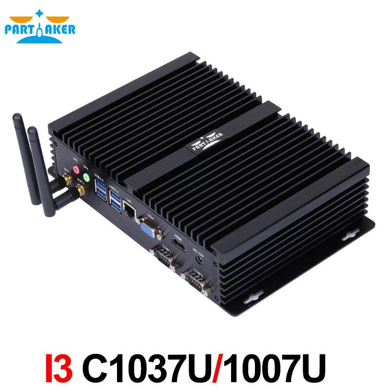 Partaker i3 mini ordenador c1037u sin ventilador mini pc windows 10 núcleo o c10