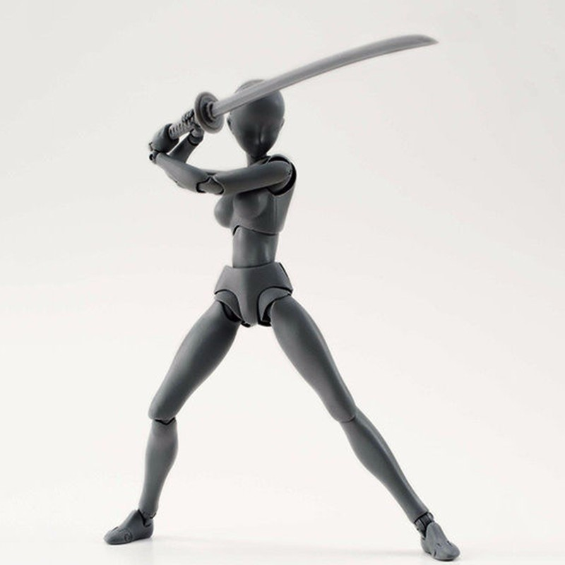 6 Types Body KUN Body Chan SHFiguarts PVC Action Figure DX SET Figma He She Solid Black Pale Orange Gray Ver In Box  (8)