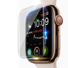 Screen Protector For Apple Watch Series 4 44mm 40mm Iwatch band Soft Film cover 9D Anti-Shock Protective Full Coverage