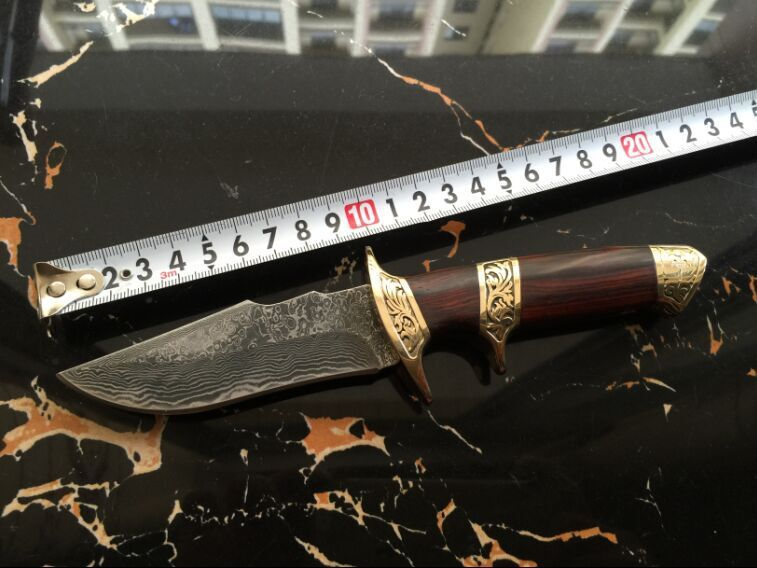 Luxury Handmade Forged Damascus Steel font b Tactical b font Hunting font b Knife b font
