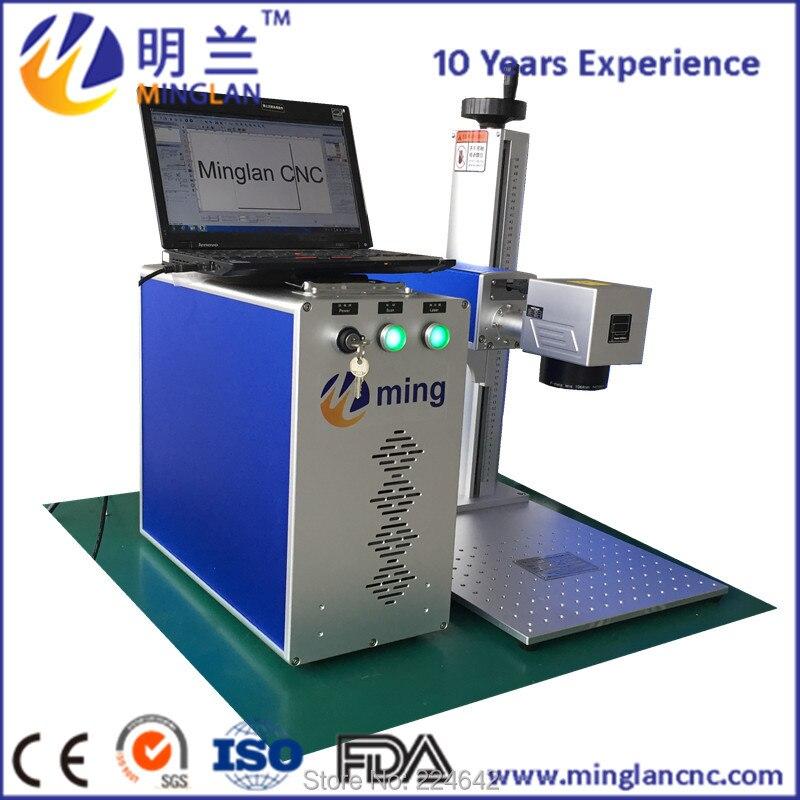 MINGLAN CE ROHS FDA 50w fiber laser marking machine for metal stainless steel plate