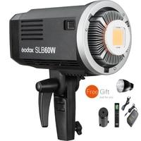 Godox sl 시리즈 slb60w 백색 led 영상 스튜디오 빛 60ws 5600 k 색 온도 리튬 건전지 11.1 v 8700 mah bowens 산