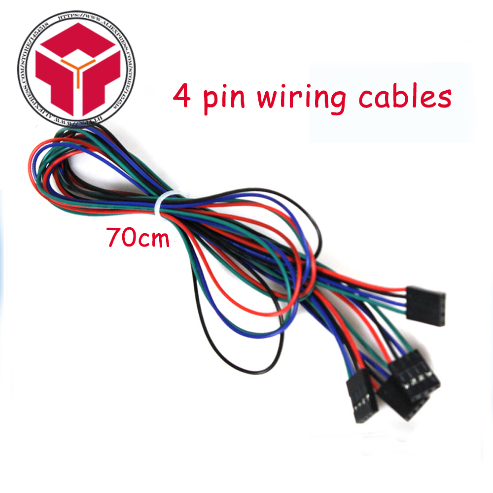 10pcs/lot 70cm 4 Pin Female to Female Jumper Wire Dupont Cable for 3D Printer серьги telle quelle серьги