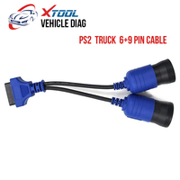 XTOOL Original Truck Cable OBD2 PS2 6+9 pin Truck Diagnostic Cable 6 pin to 9 pin Free Shipping