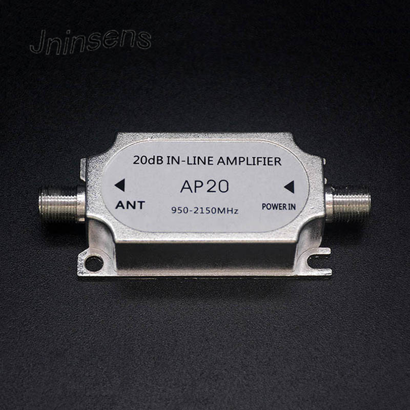Wholesale Satellite TV Tuner Inline Amplifier 20dB Signal Booster Strengthen For Dish Network Antenna All Satellite Applications