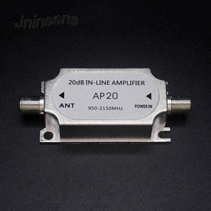 Image 1 - Wholesale Satellite TV Tuner Inline Amplifier 20dB Signal Booster Strengthen for Dish Network Antenna All Satellite Applications