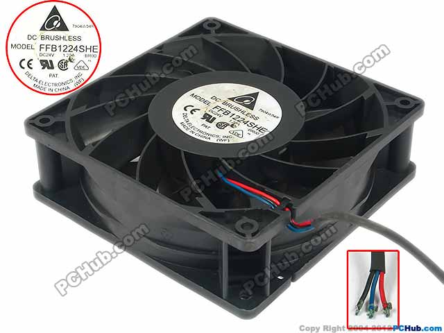 Free Shipping For DELTA FFB1224SHE, -BROO DC 24V 1.20A 3-wire 3-pin connector 110mm 120X120X38mm Server - Square fan free shipping for delta afc0612db 9j10r dc 12v 0 45a 60x60x15mm 60mm 3 wire 3 pin connector server square fan