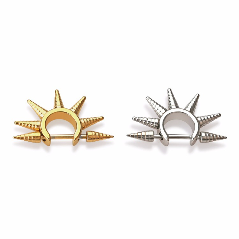 Spike σκουλαρίκια δροσερό αυτί stud από - Κοσμήματα μόδας - Φωτογραφία 3