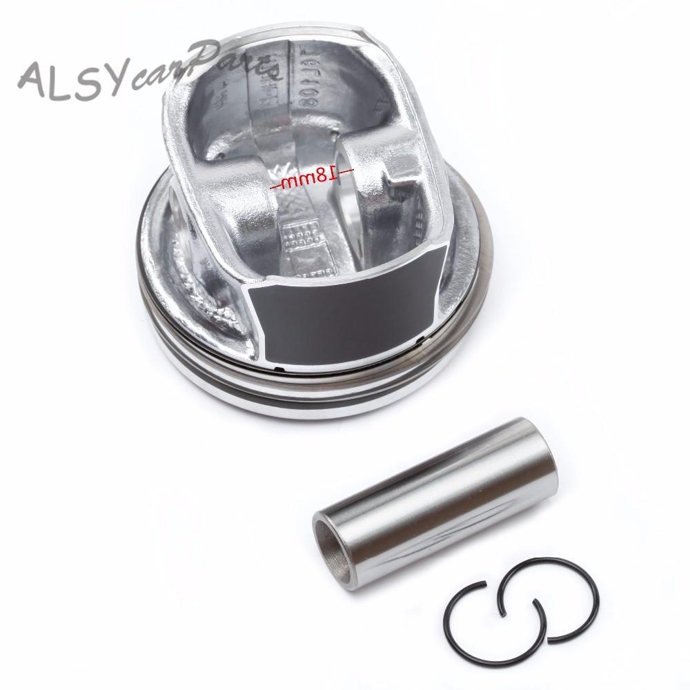 Genuine Mahle 76.5mm 4x Piston /& Piston Ring Kit For VW Jetta 11-16 1.6L EA111