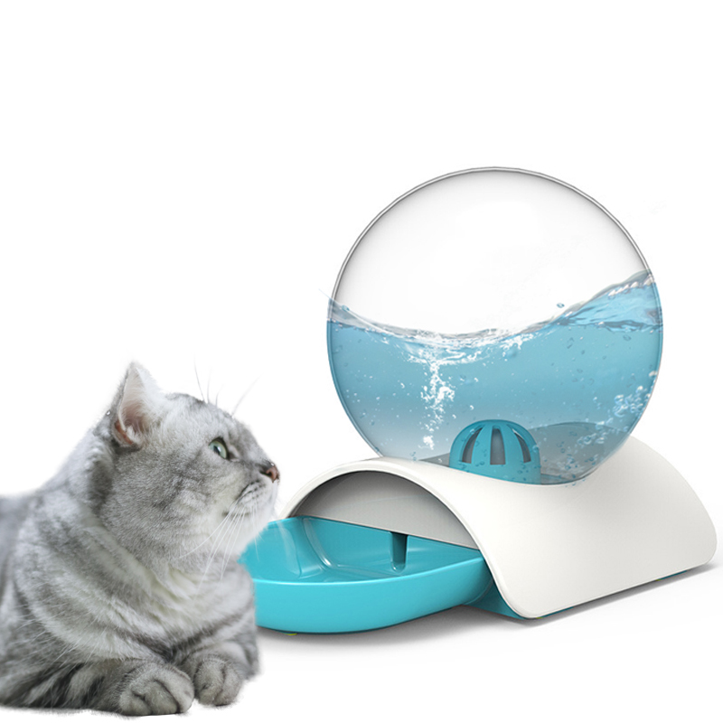 Bubble Automatic Cat Water Fountain For Pets Water Dispenser for cat puppy Drinking Bowl Cat Drink 2.8L