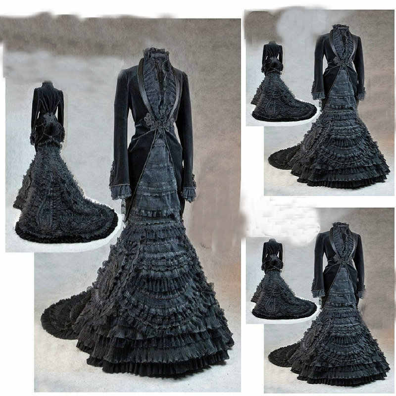 23eccc9da727 sc-1219 Victorian Gothic/Civil War Southern Belle loose Ball Gown Dress  Halloween Vintage
