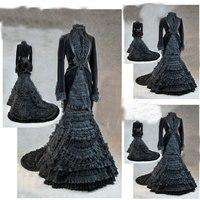 Sc 1219 викторианской готический/Гражданская война Southern Belle свободные бальное платье Хэллоуин винтажные наряды индивидуальный заказ