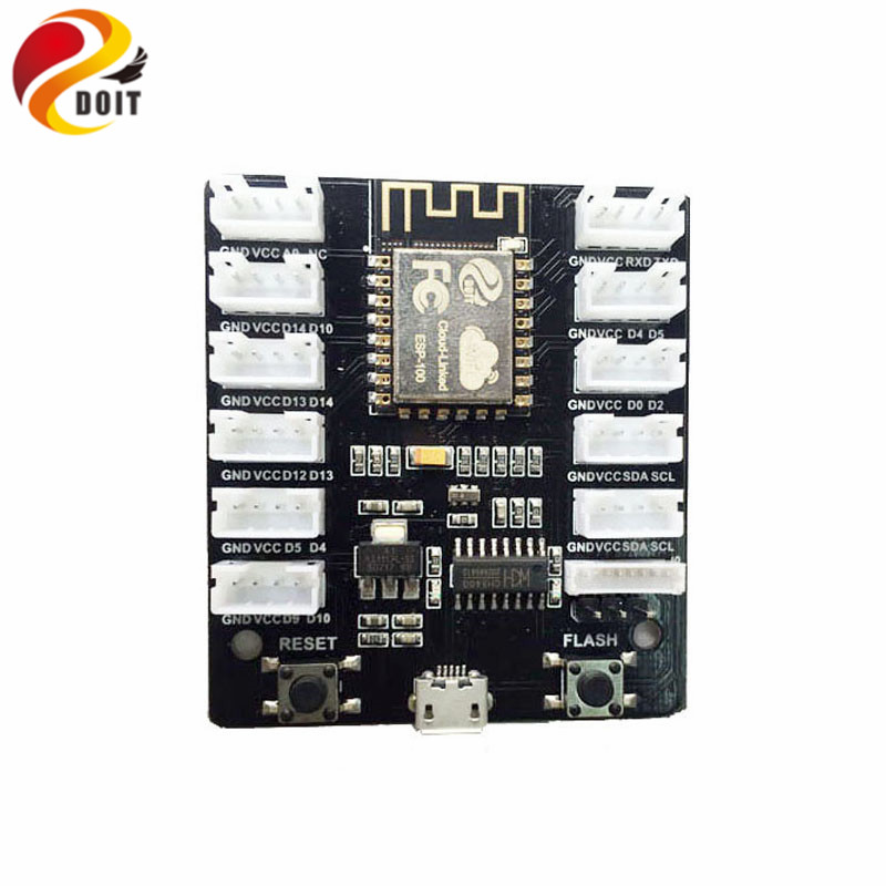 Official DOIT Grove Kit Sensor Shield IoT Extension Board ESP8266 WiFi Grove Board Kit PMS5003 WiFi Sensor Remote Control Shield esp 07 esp8266 uart serial to wifi wireless module