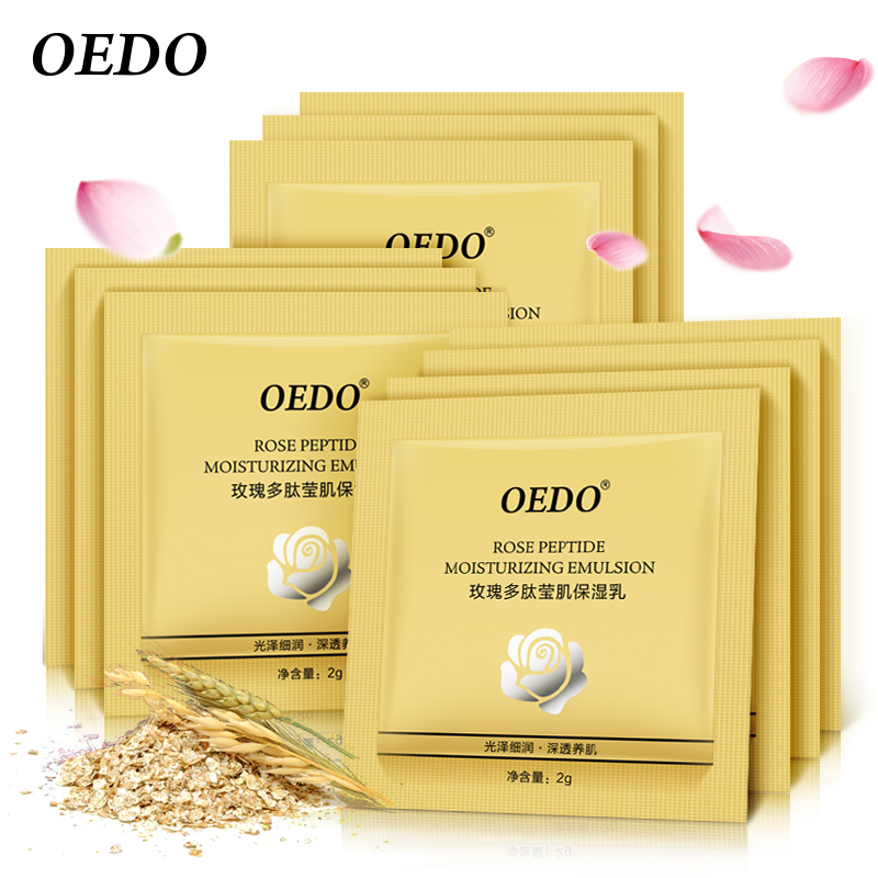 50pcs Rose Peptide Moisturizing Emulsion Skin Care Whitening Anti-aging Oil-control Repair Water Lock Anti Wrinkle Face Cream