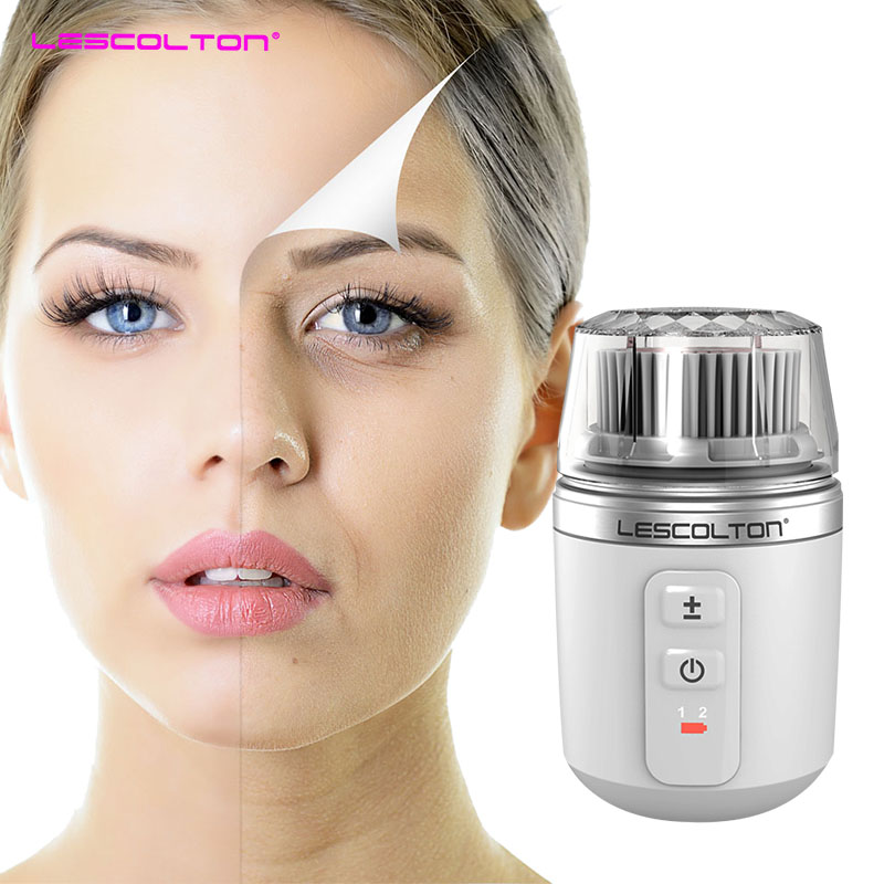 Ultrasonic Electric face cleaner brush machine Face cleanser Vibration Spa massage Beauty tools Facial Cleansing Brush