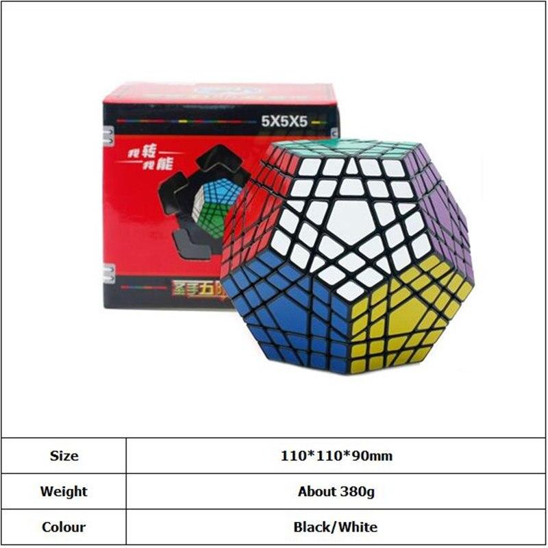 Shengshou Wumofang 5x5x5 Cube magique Megaminx Gigaminx 5x5 professionnel Dodecahedron Cube Twist Puzzle apprentissage jouets éducatifs - 3