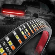 MICTUNING barre lumineuse à Triple rangée, LED, avec clignotant de frein, rouge ambre