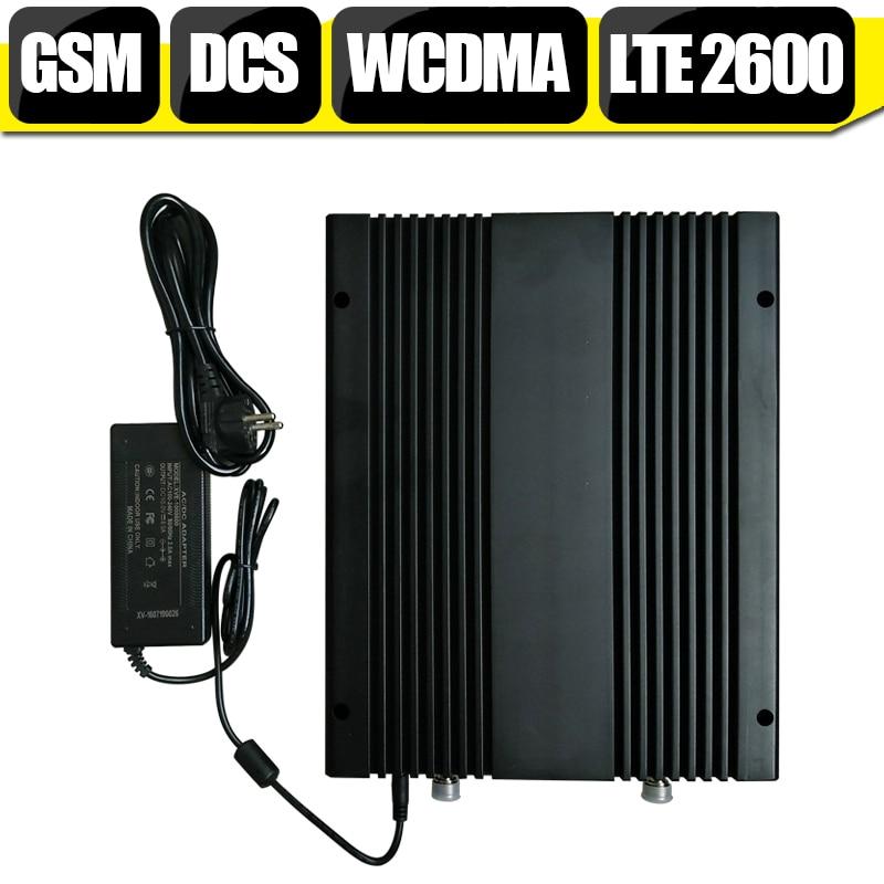 2G 3G 4G Quadruple bande GSM 900 DCS 1800 WCDMA 2100 LTE 2600 mhz amplificateur de répéteur cellulaire de Signal de téléphone portable