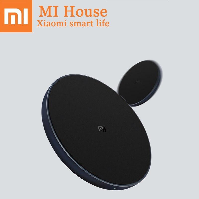 Original Xiao mi cargador inalámbrico Qi carga rápida inteligente tipo C cargador rápido para mi X 2 s sumsung iPhone carga del adaptador del cabezal