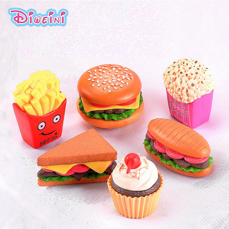 Simulation Hamburg Figures Food Snacks Miniature Figurine Pretend Play Kitchen Toy Doll House DIY Accessories Gift Baby Gift