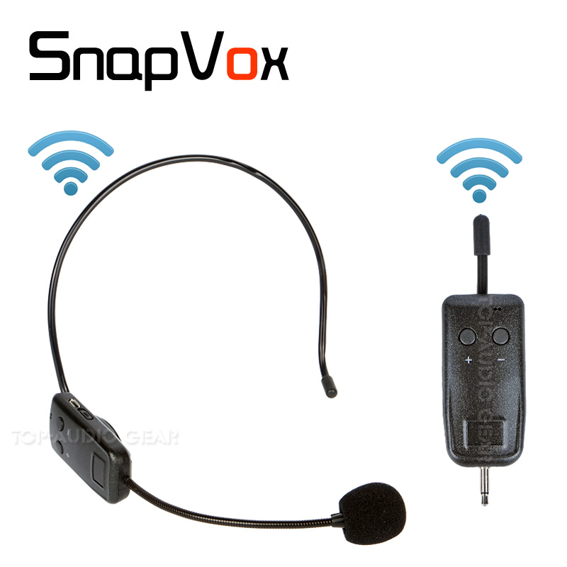 Free Shipping Wireless Headset Headworn Microphone System Megaphone Voice Amplifier Speaker Mic Transmitter Receiver Audio Kit Головная гарнитура