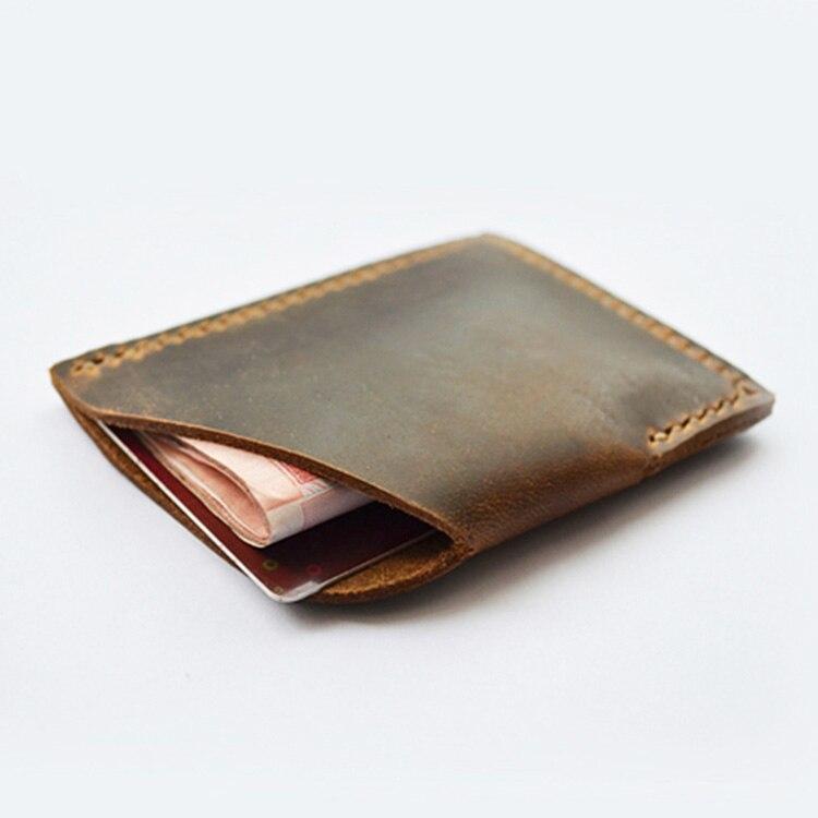 Homme Slim Wallet RFID poche avant minimaliste mince en cuir carte de crédit titulaire