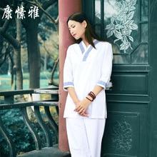 купить Women Yoga Wear Cotton Linen Loose Seven Cuff Yoga Top Wide Leg yoga pant Martial Arts Suit Tai Chi Uniform Meditation yoga Suit дешево