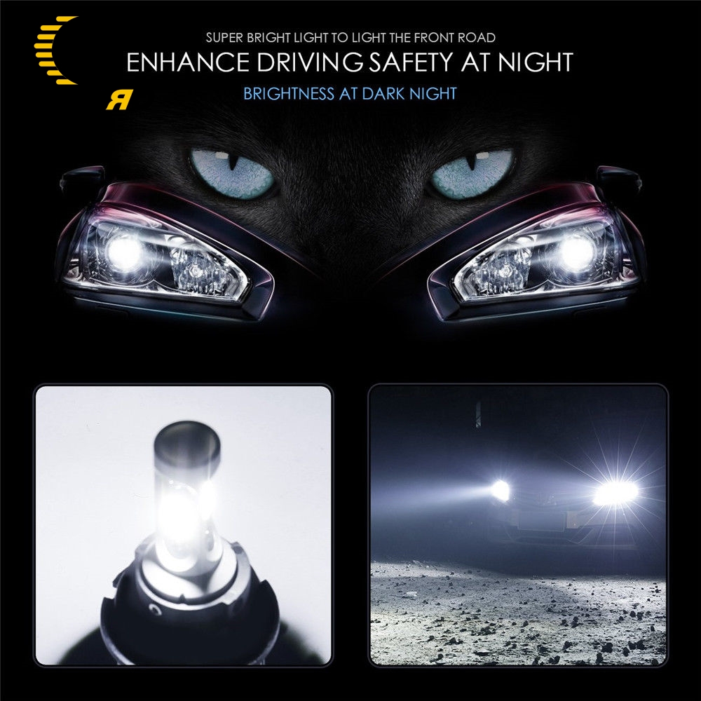 Image 5 - 2pcs Auto Car led Headlight 36W 12000LM Super Bright 3 Sides S2 LED HIR2 Led Bulbs Bullet Super Bright turbo Car Light led Lamp-in Car Headlight Bulbs(LED) from Automobiles & Motorcycles