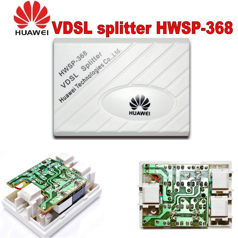 Original Huawei VDSL Splitter Broadband Telephone Filter Surge Lightning Protection Anti Noise For ADSL Modem RJ11 Adapter