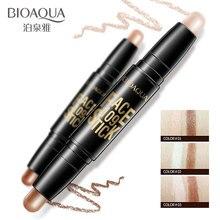 BIOAQUA Brand Double Head 3D Bronzer Highlighter Stick Face Makeup Concealer Pen Foundation Cream Texture Contour Pencil