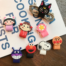Cartoon Cable Protector Data Line Cord Protector Protective Case Cable Winder Cover For iPhone USB Charging Cable For iPhone x cartoon cable protector data line cord protector protective case cable winder cover for iphone huawei samsung usb charging cable