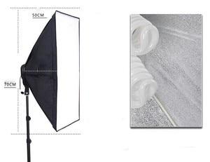 Image 5 - Top Hanger SoftBox set 1pc light stand 1pc light holder 1pc softbox photo equipment softbox kit 4socket arm boost softbox kit