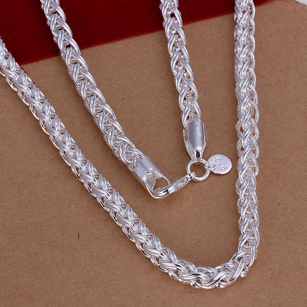 34 inch Silver Chain Necklace Rope chain-handmade-Vintage Ethnic-sterling silver Necklace hippy gypsy sterling jewellery shop