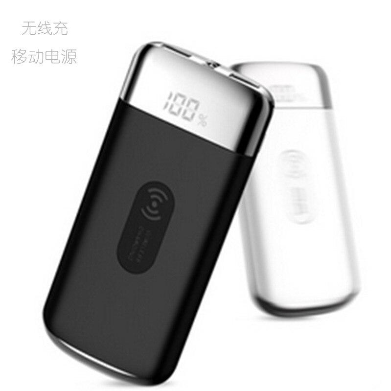 Qi Sans Fil Power Bank 10000 mah Universel powerbank 18650 Batterie Chargeur Avec Écran LCD Pour Téléphones Mobiles Pour iphone
