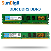 SunDigit DDR 1 2 3 DDR1 DDR2 DDR3 PC1 PC2 PC3 512MB 1GB 2GB 4GB 8GB