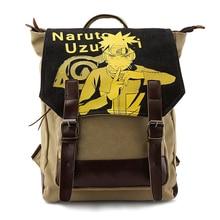 Anime Harajuku Uzumaki Naruto Washed Canvas Printing Student School Bags for Teenagers Laptop Rucksack