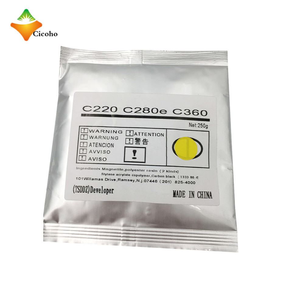 Bizhub c220 developer for Konica Minolta Bizhub c280 c360 developer High quality developer powder for Konica Minolta Bizhub C220 compatible konica minolta dv 911 black developer for bizhub950