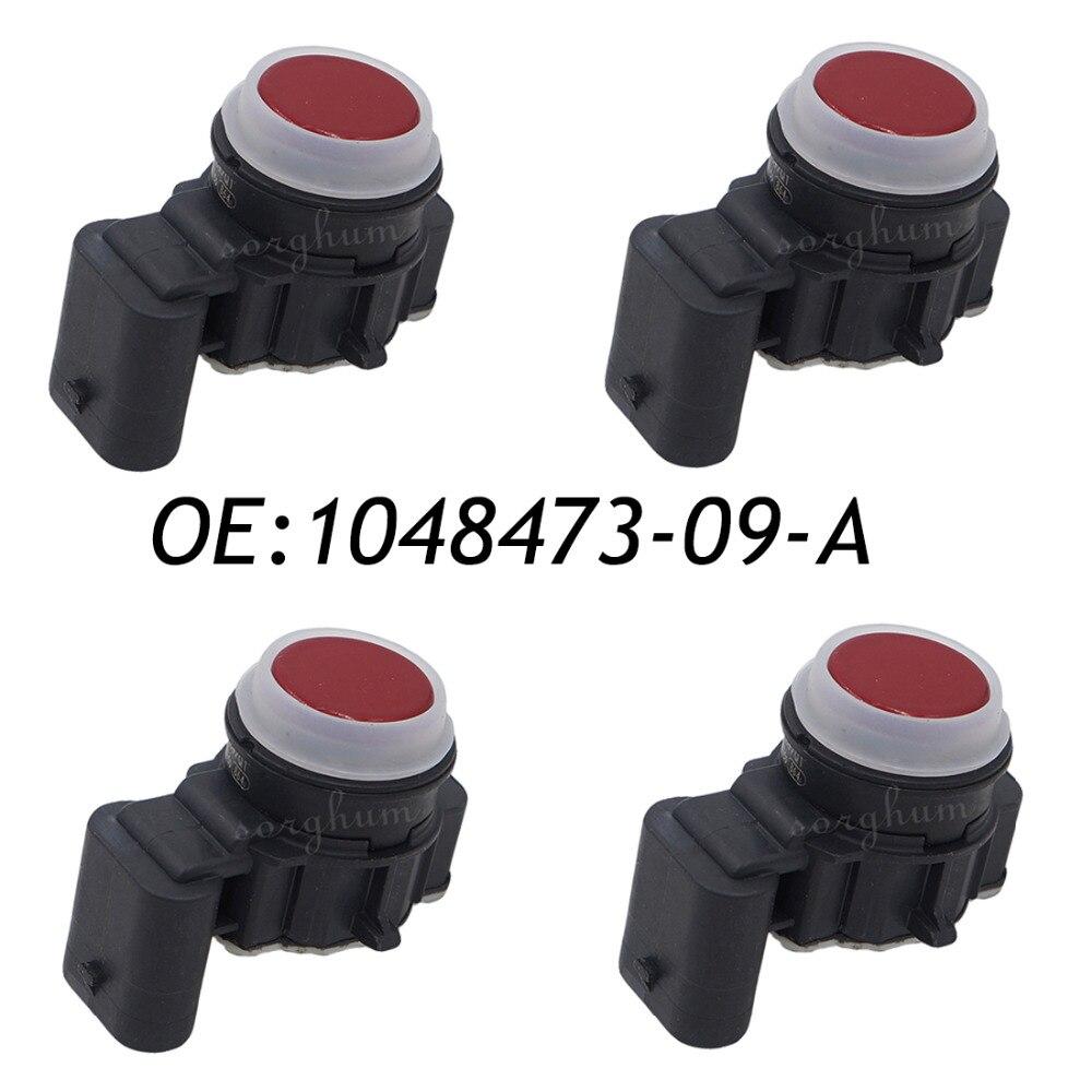 4PCS PDC Ultrasonic Parking Assist Sensor For Telsa 1048473-09-A 0263033333 Red new set 4 89341 0c010 42342 parking ultrasonic sensor for toyota tundra 2014 2015 left right 0c010 42342