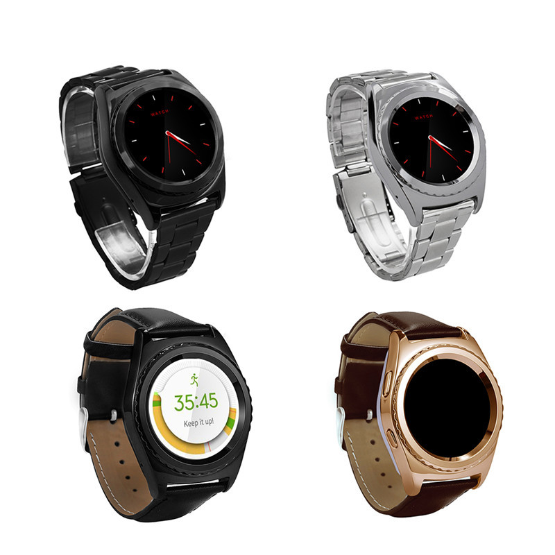 MTK6261A Round Screen Bluetooth Smart Watch Wearable Device Smartwatches Support SIM Card MP3 for iphone Samsung
